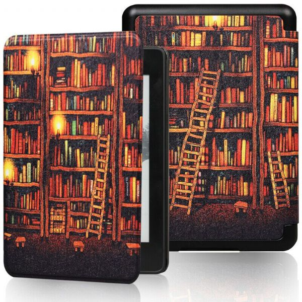 Kindle Paperwhite Art Case Cover Bookshelf